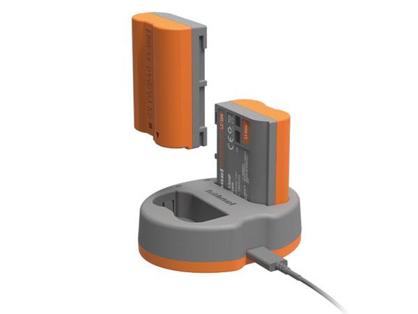 Hähnel laddare för 2 st EN-EL15-batterier (Nikon). Inkl. 1 batteri