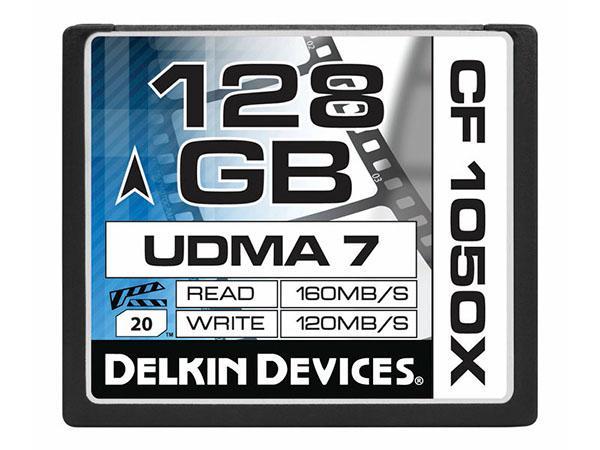 Delkin 128 GB Compact Flash 1050X