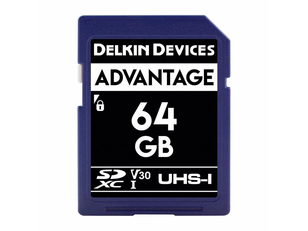 Delkin 64 GB SDXC Advantage 660X UHS-I V30