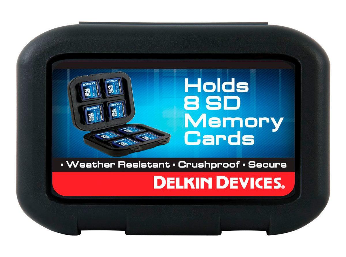 Delkin minneskortförvaring för SD kort Secure Digital