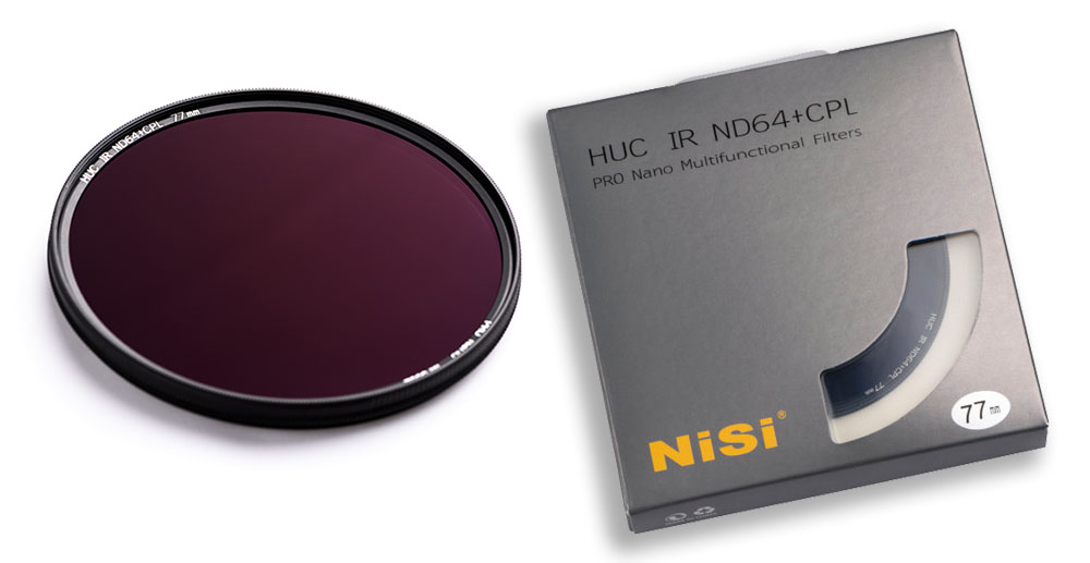 NiSi ND64 + CPL polarisationsfilter