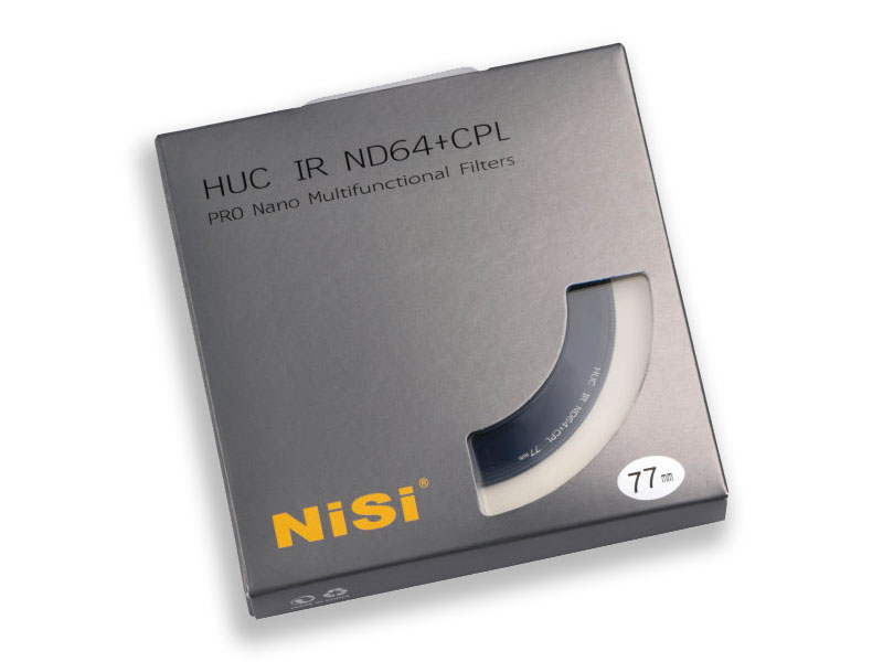 NiSi ND64 + CPL 77mm ND-filter och polarisationsfilter