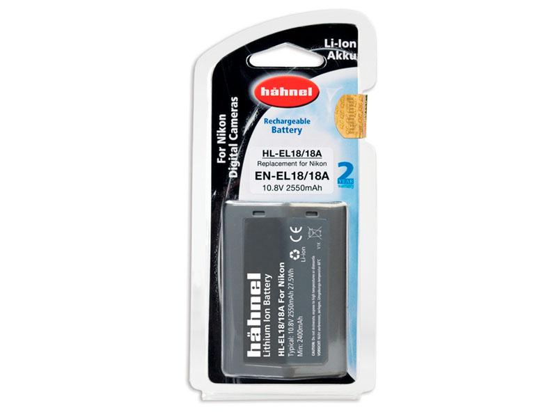 Hähnel HL-EL18 litiumjonbatteri för Nikon kameror motsvarande Nikon EN-EL18