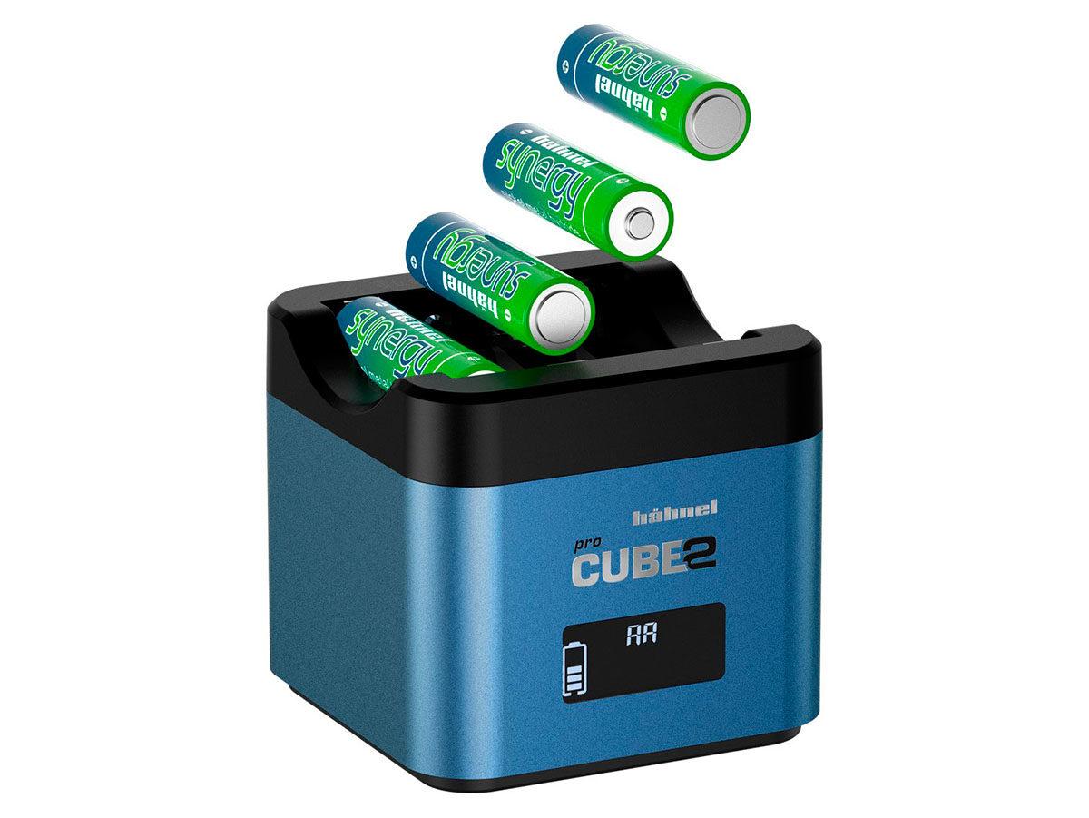 Hähnel Procube 2 dubbelladdare för Fujifilm NP-W126/ NP-W126S samt Panasonic DMW-BLF19 / BLF19E och 4 st AA batterier