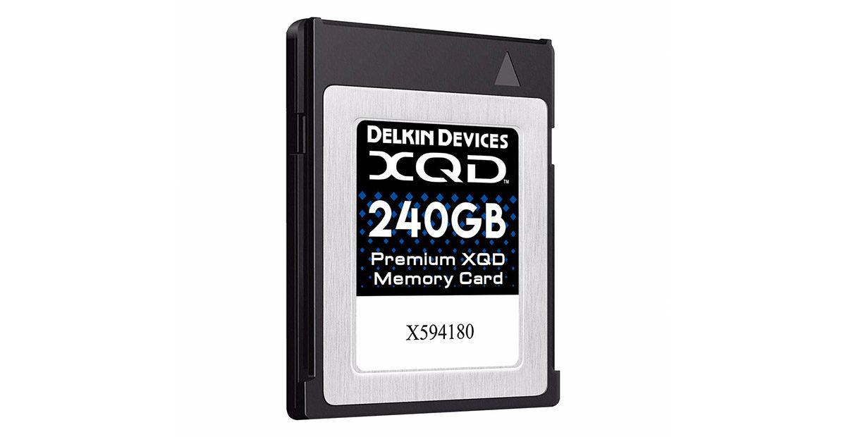 Delkin 120 GB XQD kort skrivhastighet 400 MB/s