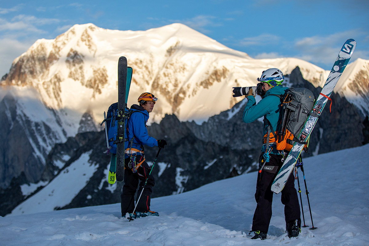 kameraryggsäck Lowepro Powder BP 500 AW för action skidåkning friluftsliv naturfotografering