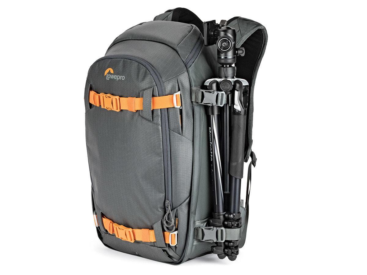 kameraryggsäck Lowepro Whistler BP 350 AW II fotoryggsäck för friluftsliv och äventyr