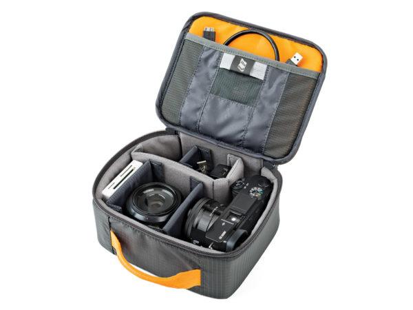 Lowepro GearUp Camera Box Medium kameraväska och fotoväska för spegelfri kamera och objektiv
