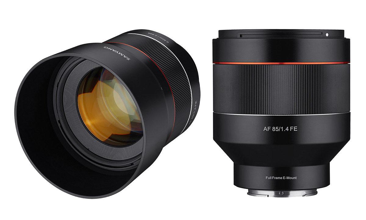 Samyang AF 85 mm f/1,4 FE nytt porträttobjektiv för Sony E fattning