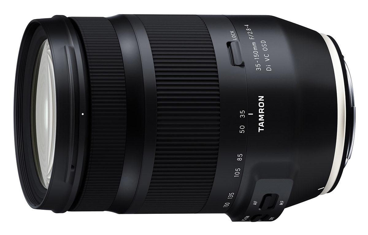 nytt zoomobjektiv Tamron 35-150 mmf/2,8-4 Di VC OSD ljusstark allroundzoom för Canon och Nikon fullformat