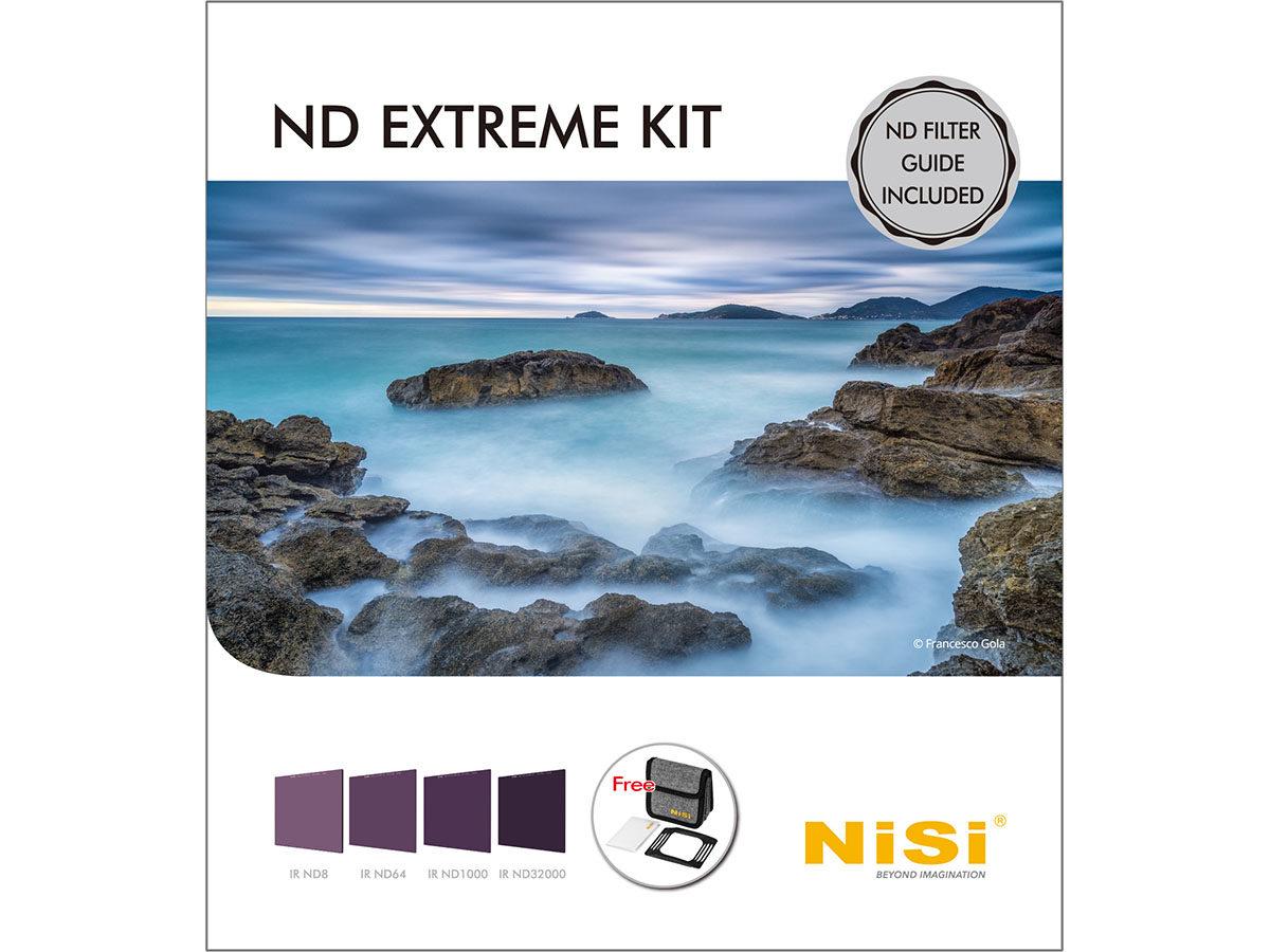 NiSi Extreme kit filterkit med ND filter ND8, ND64, ND1000 och ND32000 för långtidsexponering perfekt för landskapsfotografering