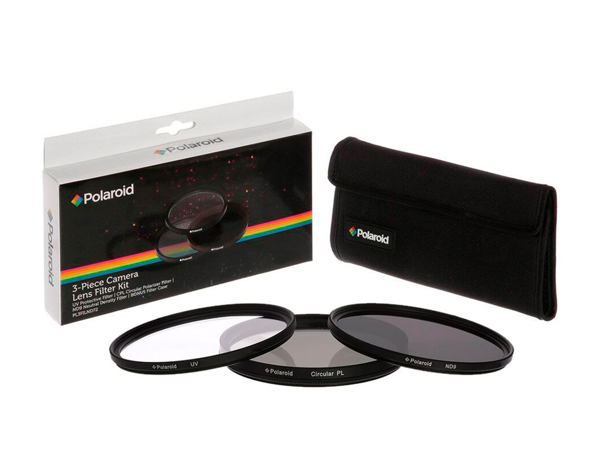 Polaroid filterkit (3 filter + väska) 49 mm