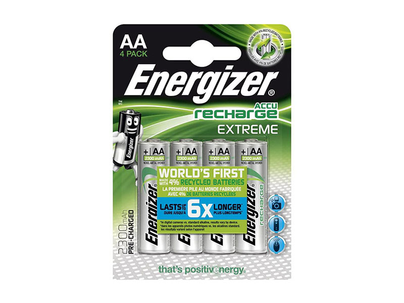 Energizer Recharge Extreme AA-batterier 4-pack