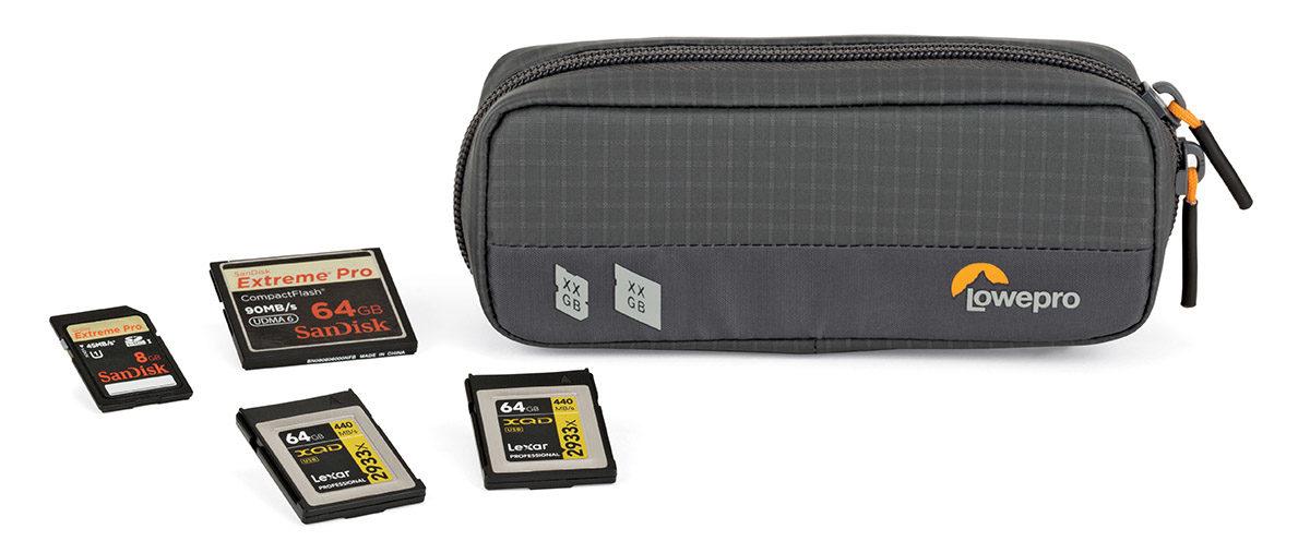 minneskortfodral Lowepro Gearup Memory Wallet 20D väska / förvaring för minneskort CF Compact Flash, XQD och SD kort