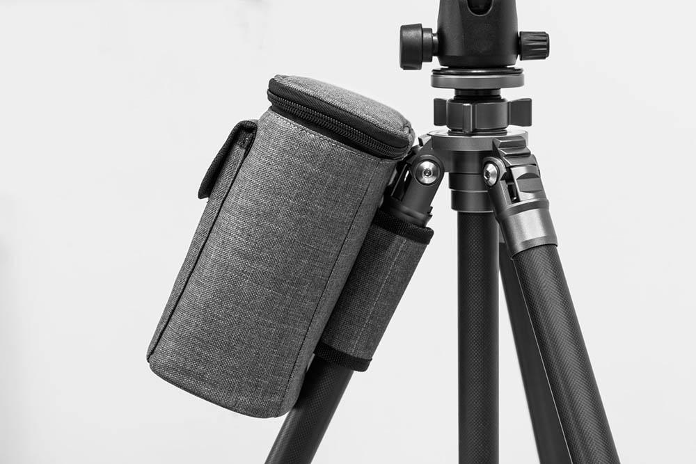 NiSi S5 filterhållare för Sigma 14-24mm f/2.8 DG DN medföljande väska fäst på stativ