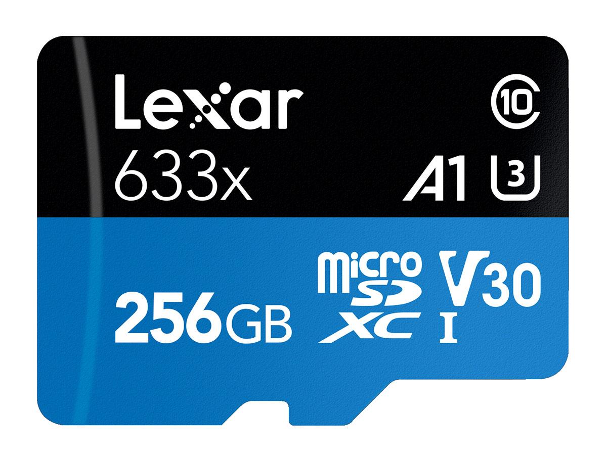 Lexar 256 GB microSDXC Pro 633X UHS-I V30